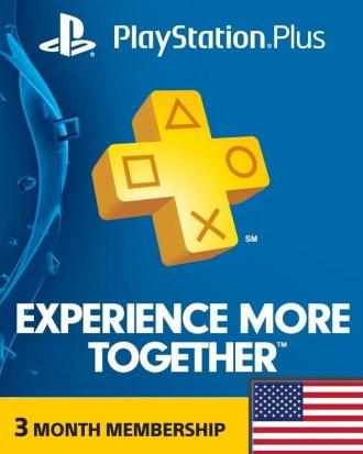 3 Month PS Plus Region 1 (USA)