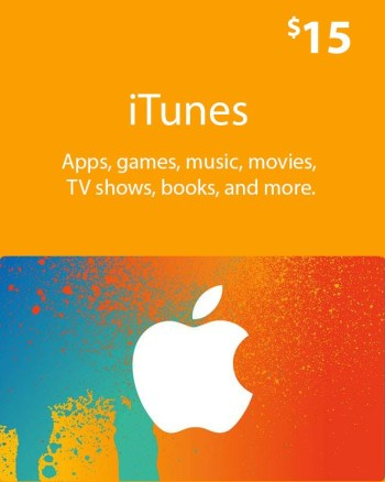 $15_ iTunes_ Gift_ Card