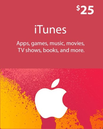 $25_ iTunes_ Gift_ Card