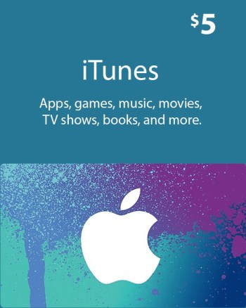 $5_ iTunes_ Gift_ Card