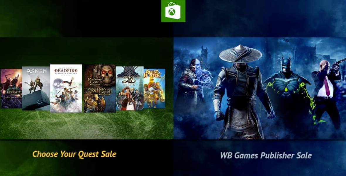 Xbox Weekly Deal - WB Games Publisher and Choose Your Quest Sale