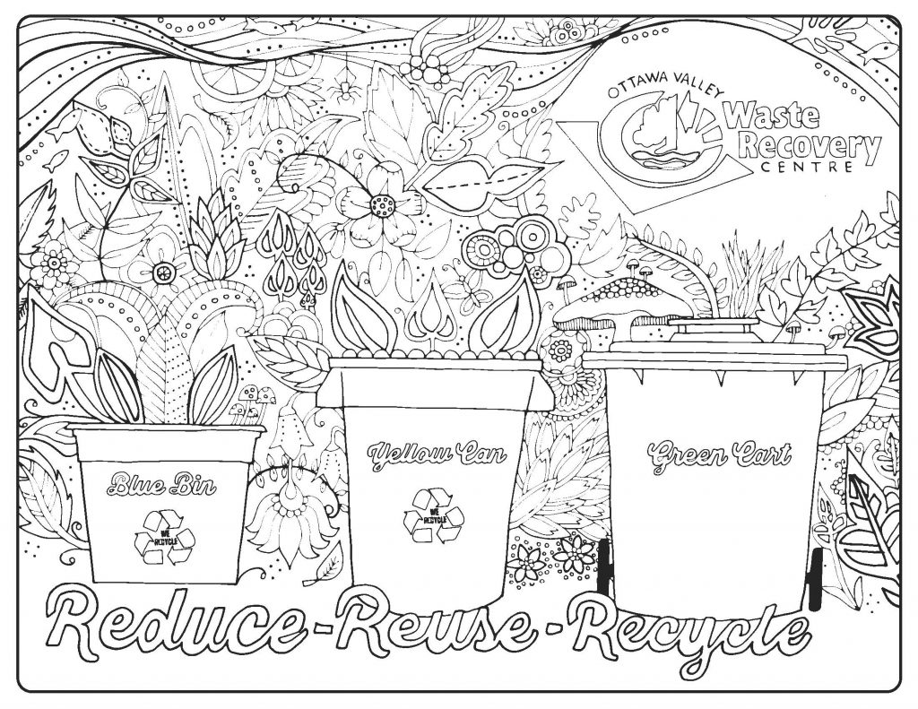 Kids Colouring Pages Ottawa Valley Waste Recovery Centre Ovwrc