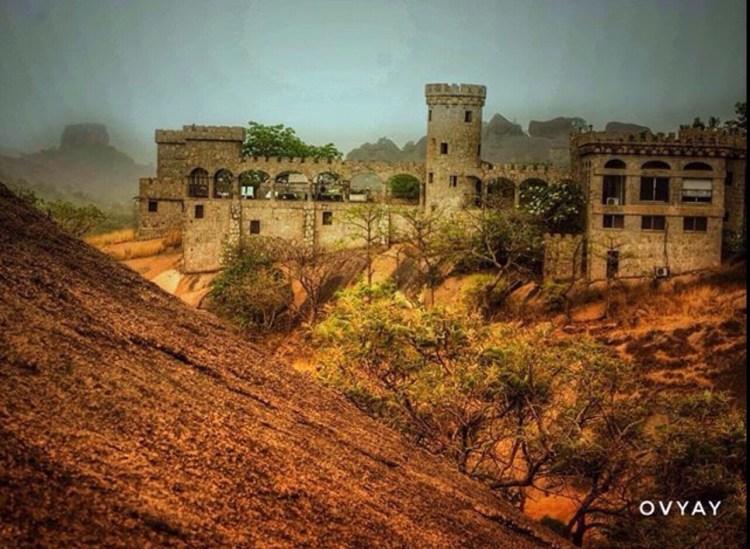 Looking back at Kajuru Castle from Kajuru mountains