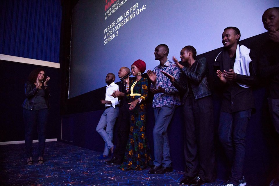 Part of the cast and crew at the screening of Tuko Macho.