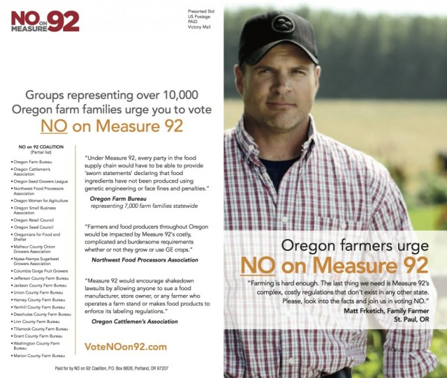 Measure 92 Hurts Farmers