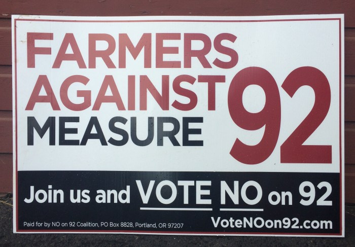 Farmers Against Measure 92