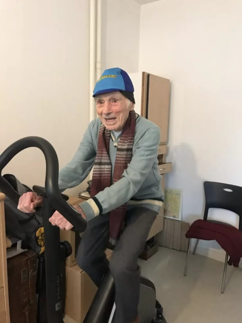 Robert-Marchand-on-his-exercise-bike Day in the Life: Robert Marchand, Centenarian Cyclist