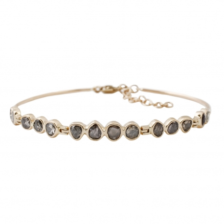 rose-cut-gray-diamond-bracelet