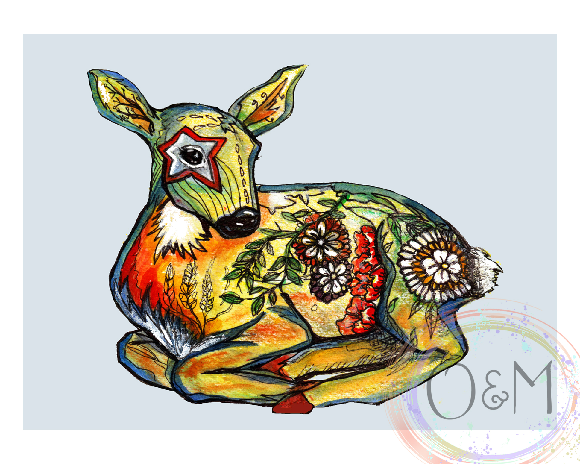 Deer Wall Art Print