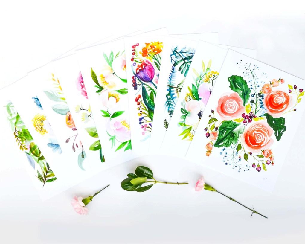 Floral Print Spread