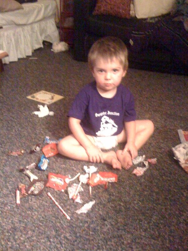 kanan caught candy
