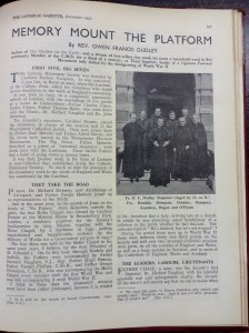 Beginning of Fr. Dudley's 1952 article on CMS history.