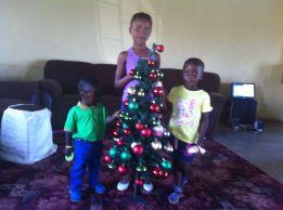 decorating their tree