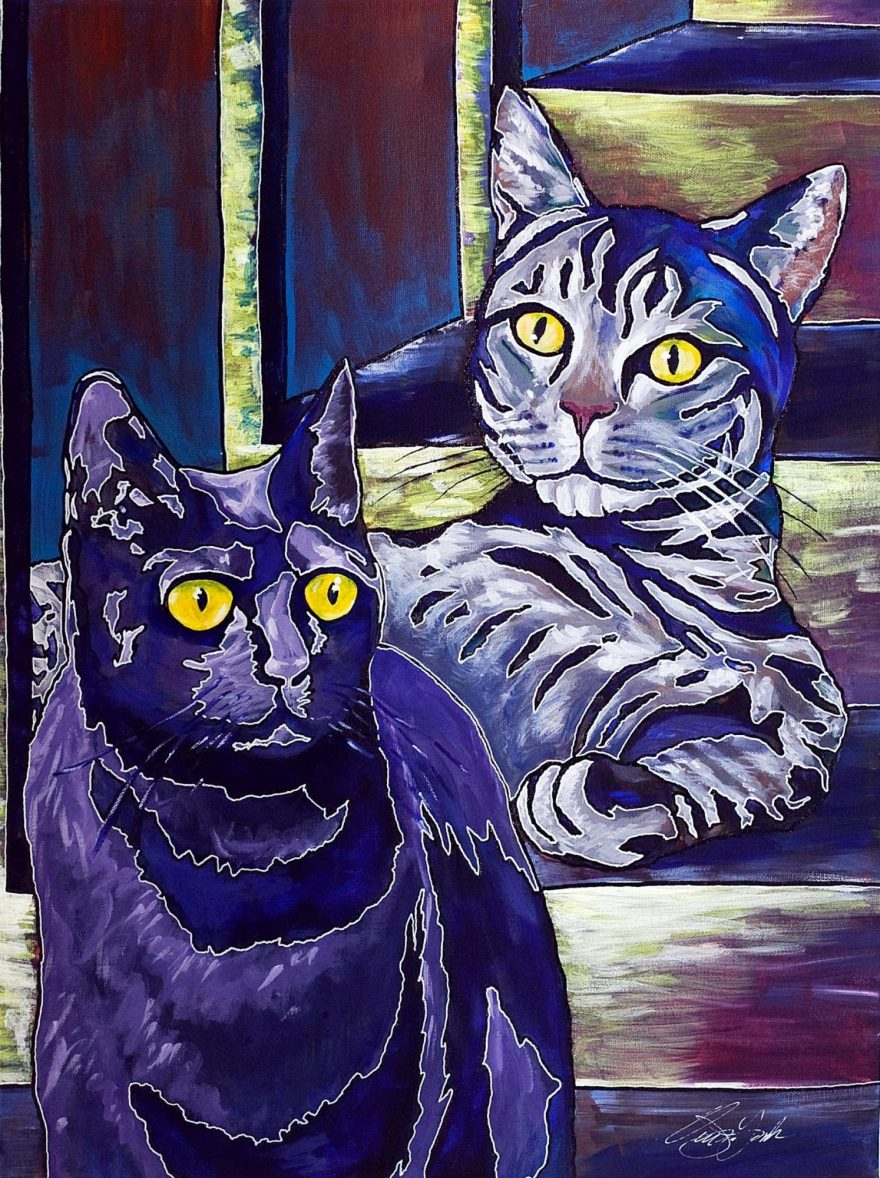 Owen York Art - Cat Portrait