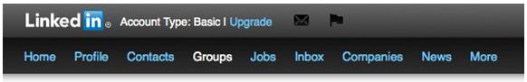 A picture of the Linkedin menu bar.