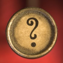 A question mark
