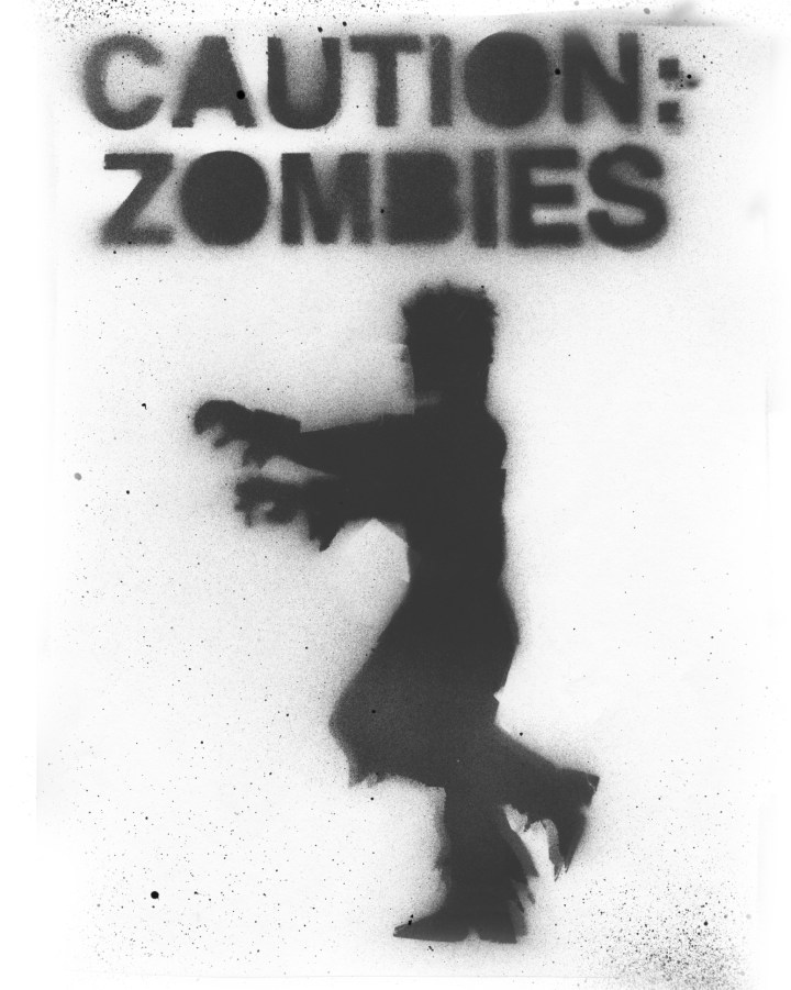 A warning sign about zombies
