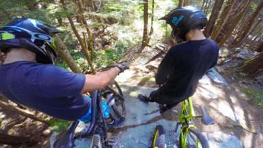 Sex girl bike trail, upper section on Cypress mountain, Canada