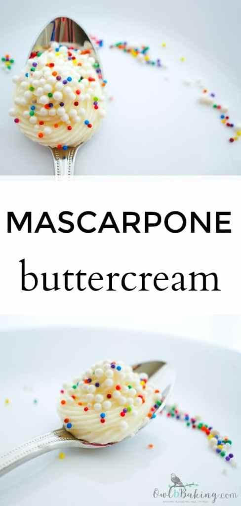 Mascarpone Buttercream frosting