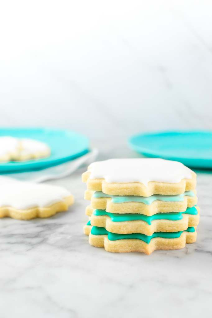 No Chill Sugar Cookie Cut Outs- Decorated stacked
