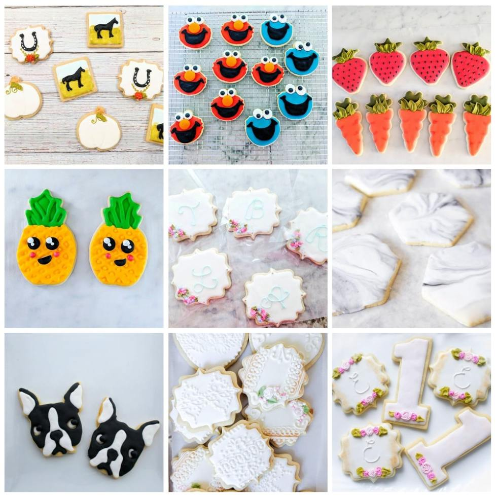 Sugar Cookie decorating ideas with royal icing