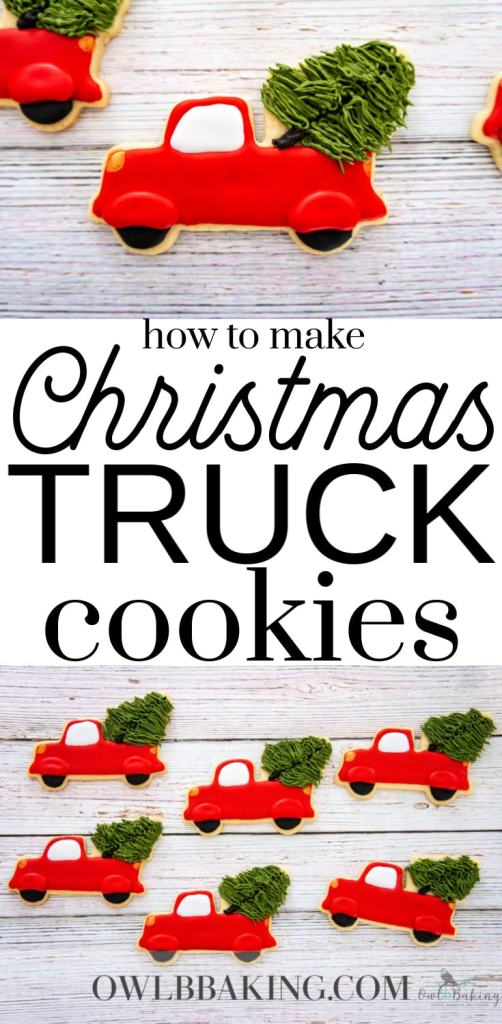 How to make How to Make Christmas Trucks Decorated cookies with royal icing