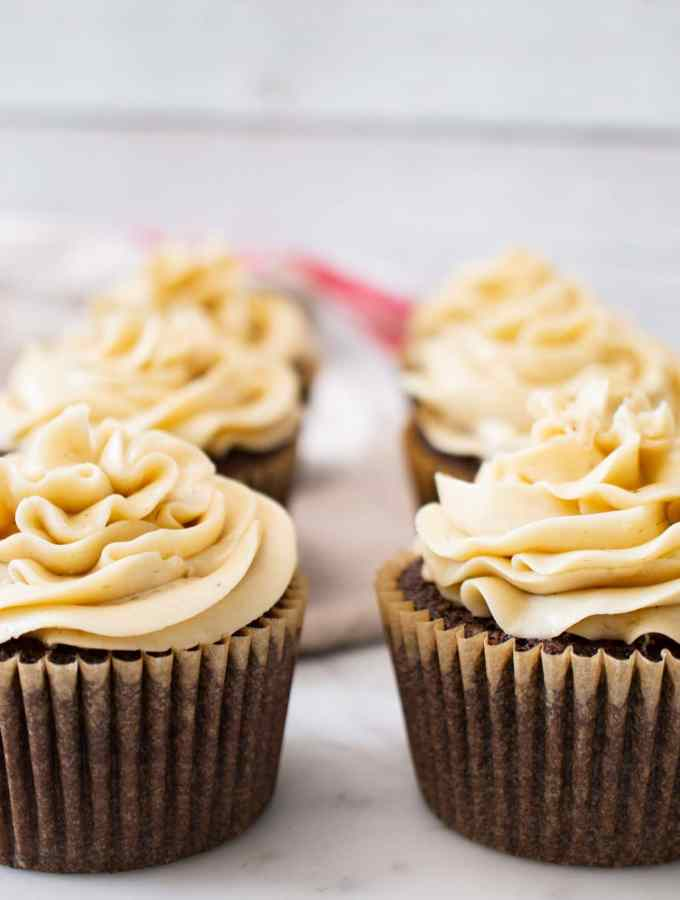 Chocolate Stout Cupcakes recipe; quick and easy cupcakes that are a great dessert idea for a Superbowl party