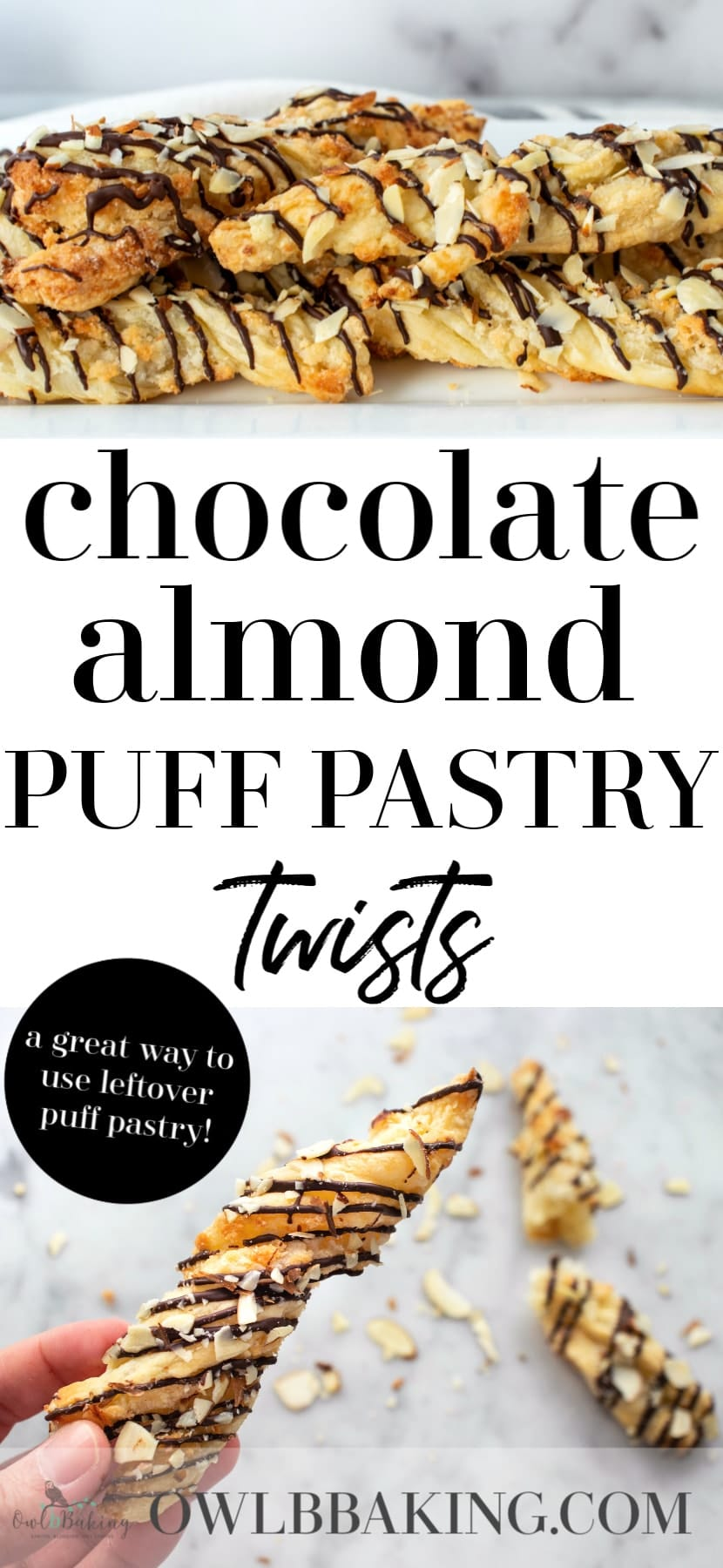 Chocolate Almond Puff Pastry Twists
