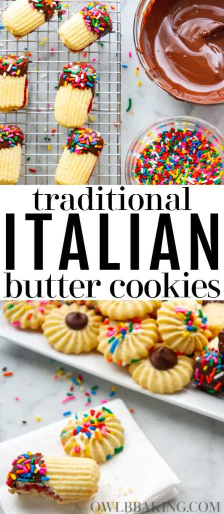 This is the best recipe for traditional Italian Butter Cookies! Easy, simple and so yummy homemade!