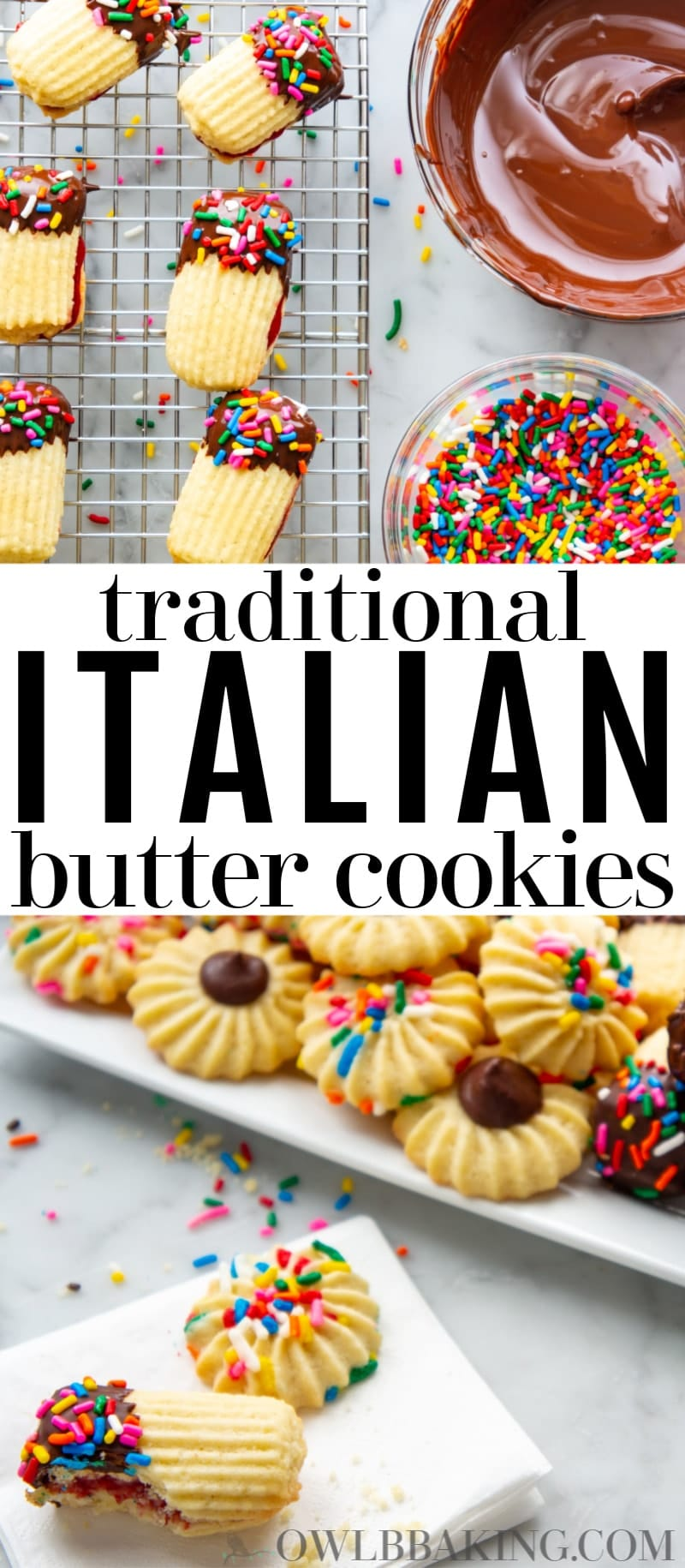 Traditional Italian Butter Cookies Owlbbaking Com