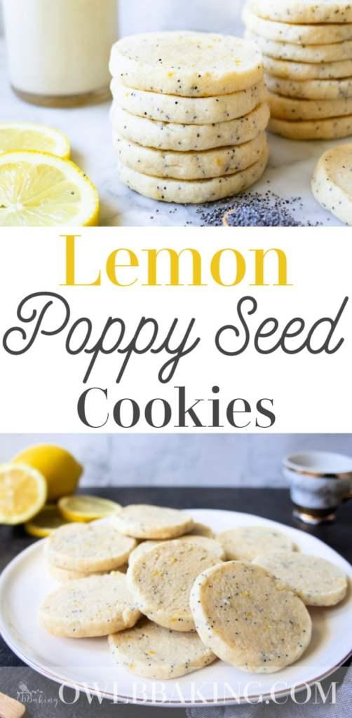 Lemon Poppy Seed Slice and Bake Cookies