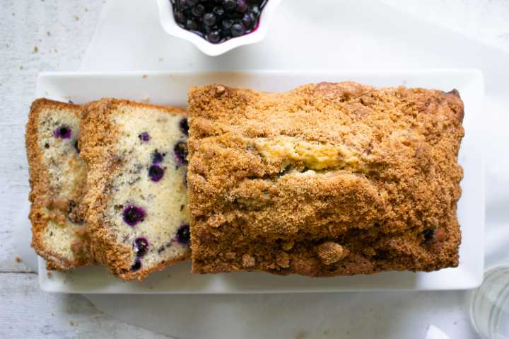 Blueberry Bread top view