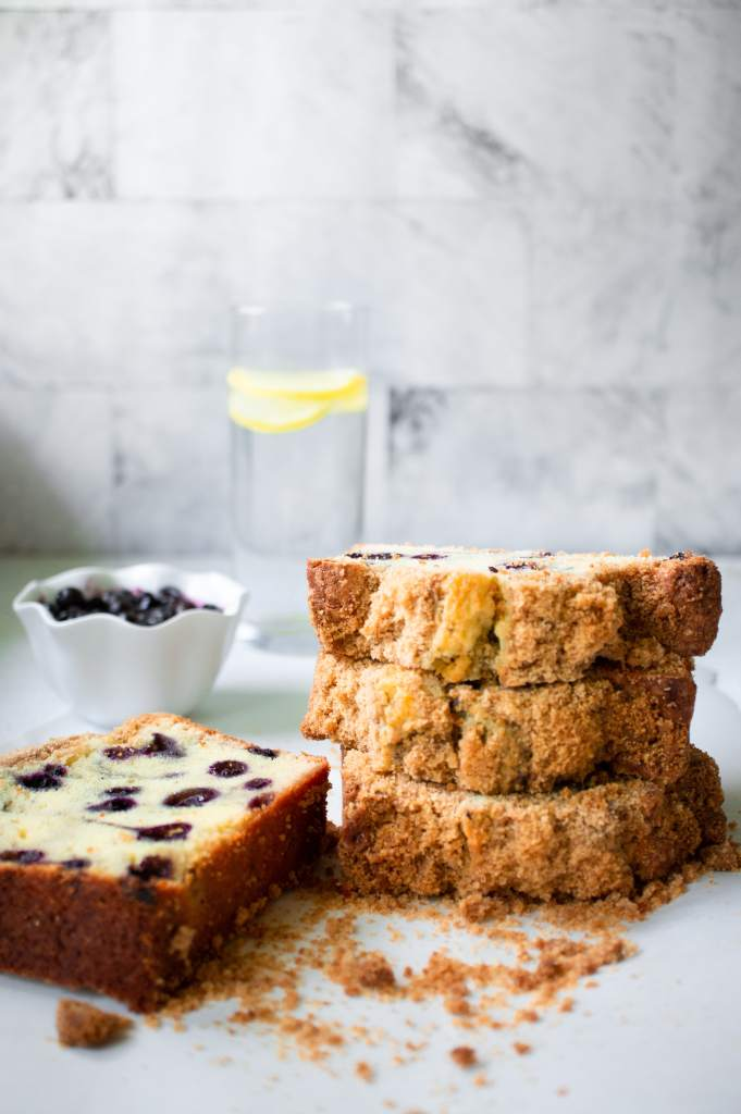 streusel topping - blueberry bread 1