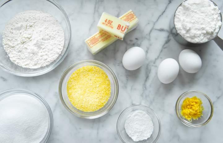 Ingredients needed for Lemon Ricotta Cake