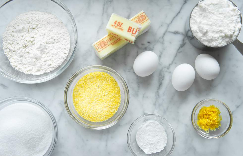 Ingredients needed for Lemon Ricotta Cake