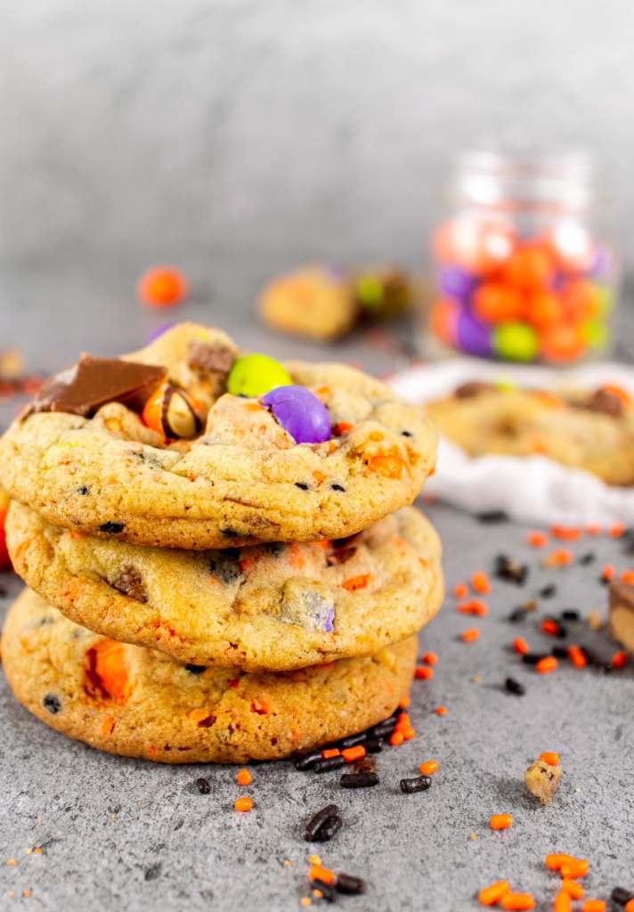 Halloween Cookies stacked