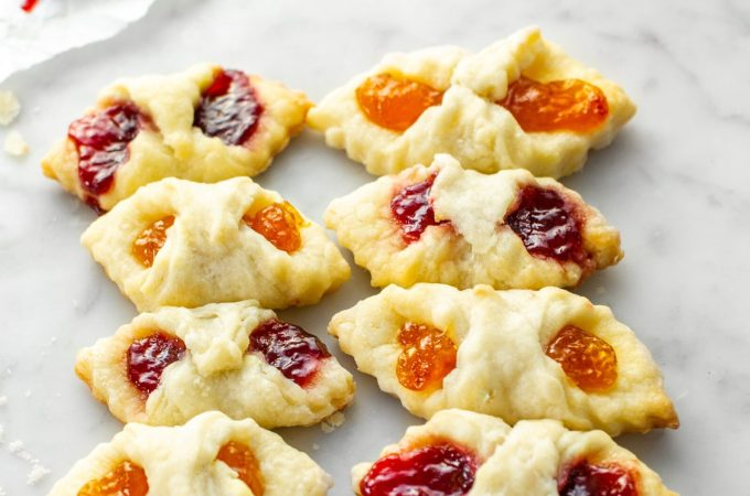 Kolaczki Polish cookies filled with jam