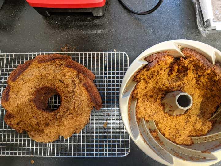 Gingerbread Bundt Cake- cake stuck in pan