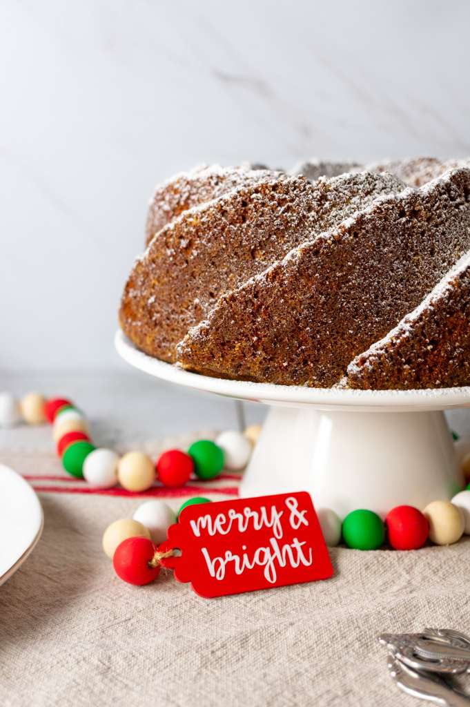 Gingerbread Bundt Cake - side view