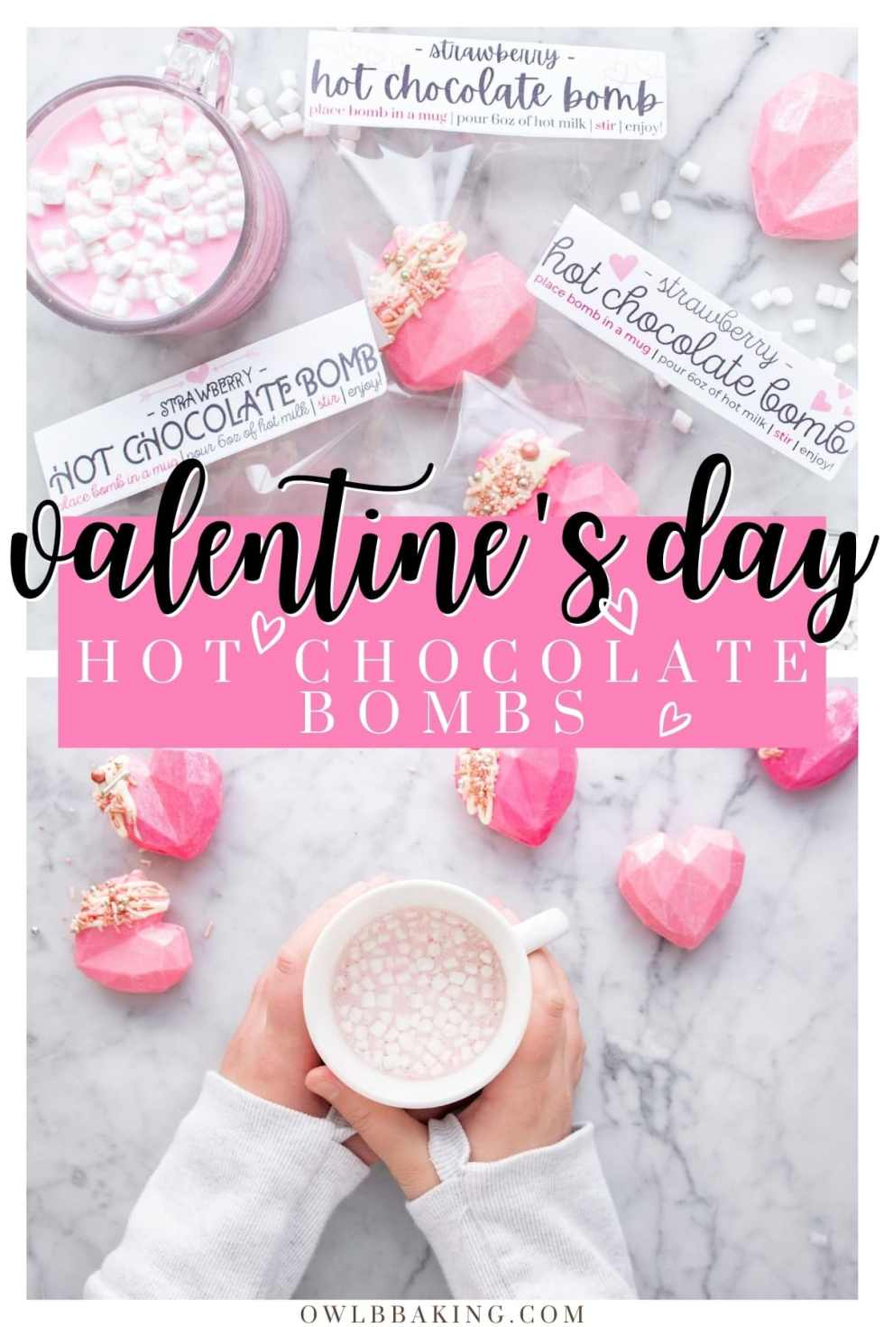 Valentine\'s Day Hot Chocolate Bombs