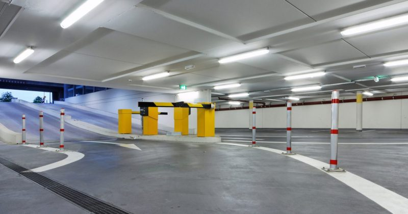 Indoor Car Park with LED NCF Lighting