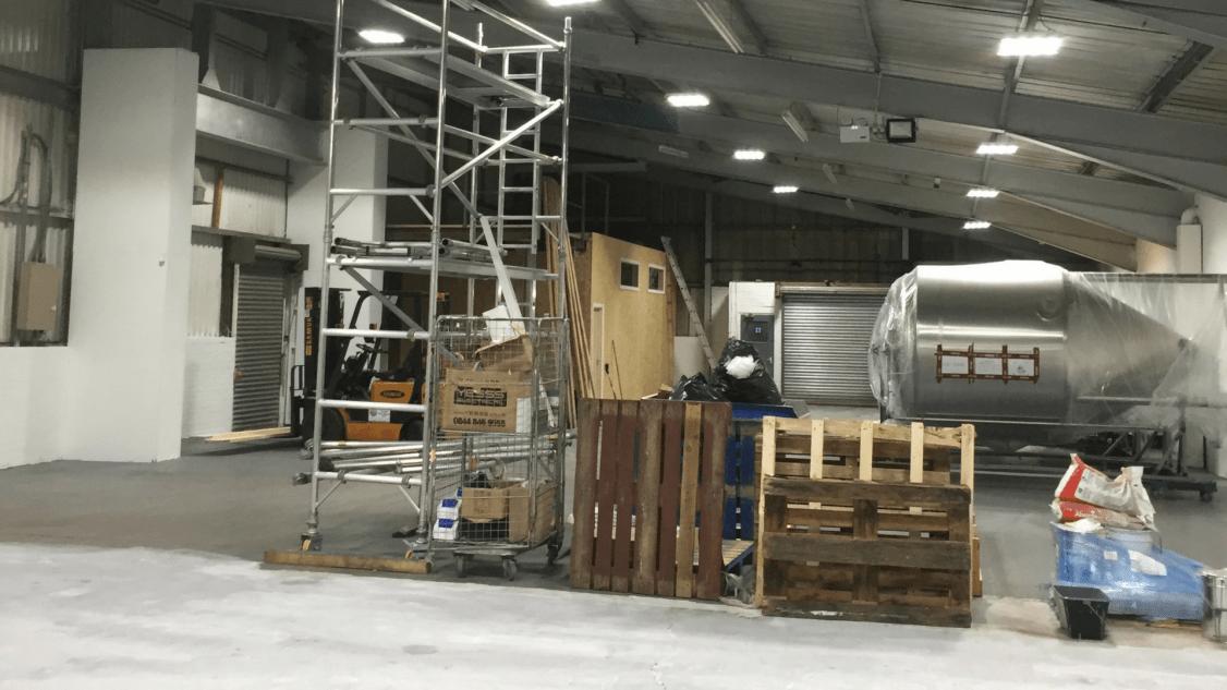Image of Harris Trucking's new warehouse lighting