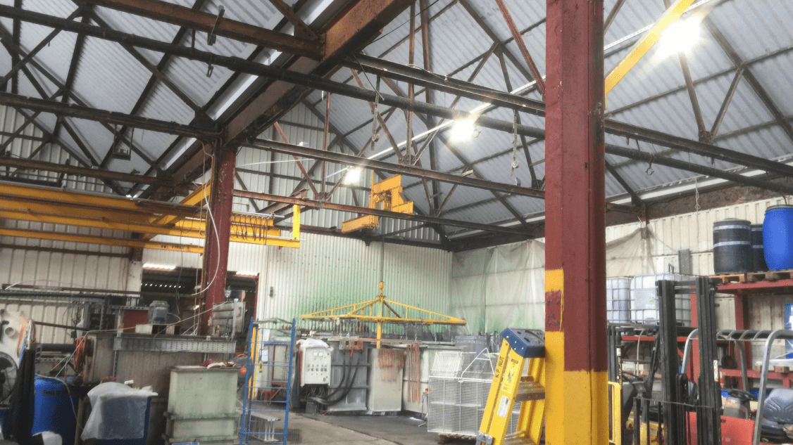 Firma Chrome's newly installed led factory lighting