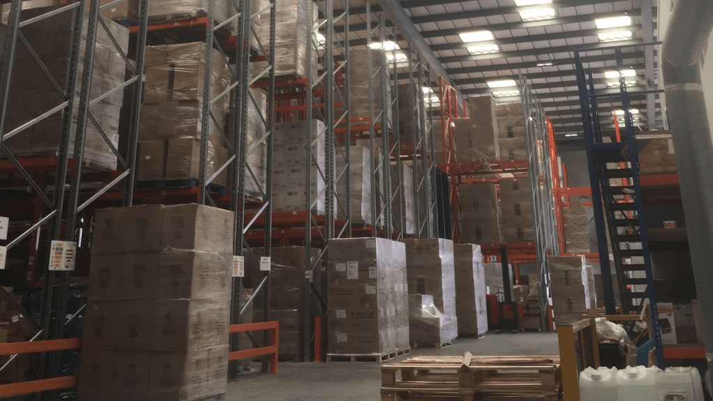 An image of 4 Ace's warehouse fitted with new LED lighting