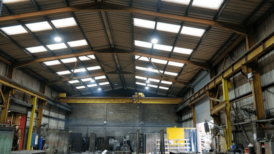 Image of Renoco's new LED factory lighting