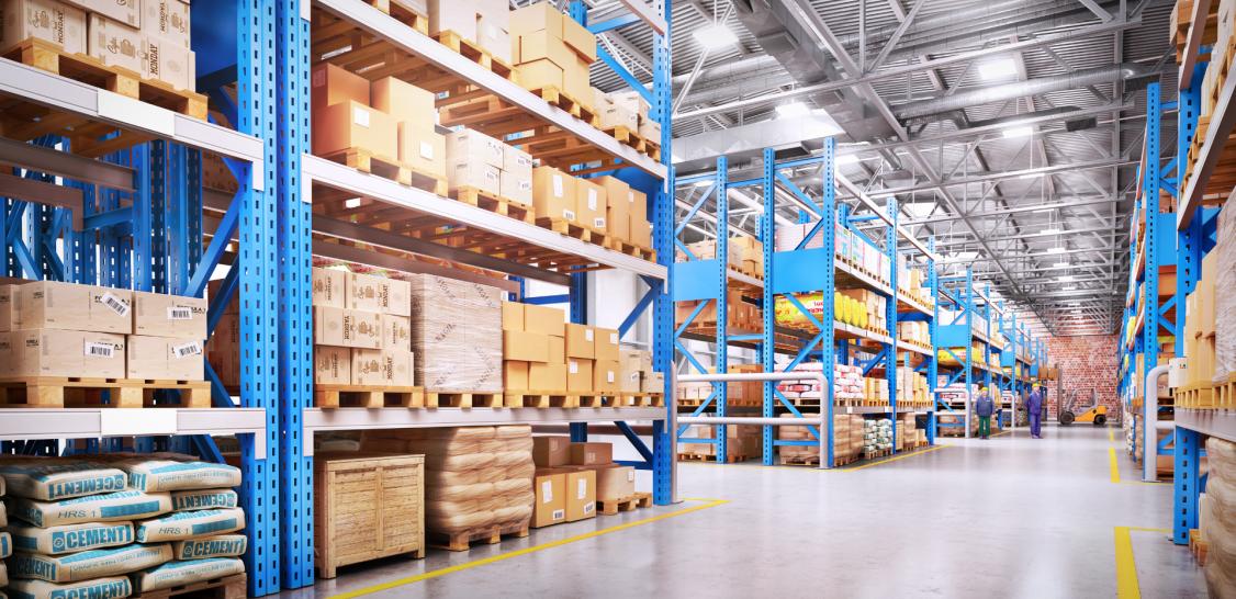 An image showing LED warehouse lighting