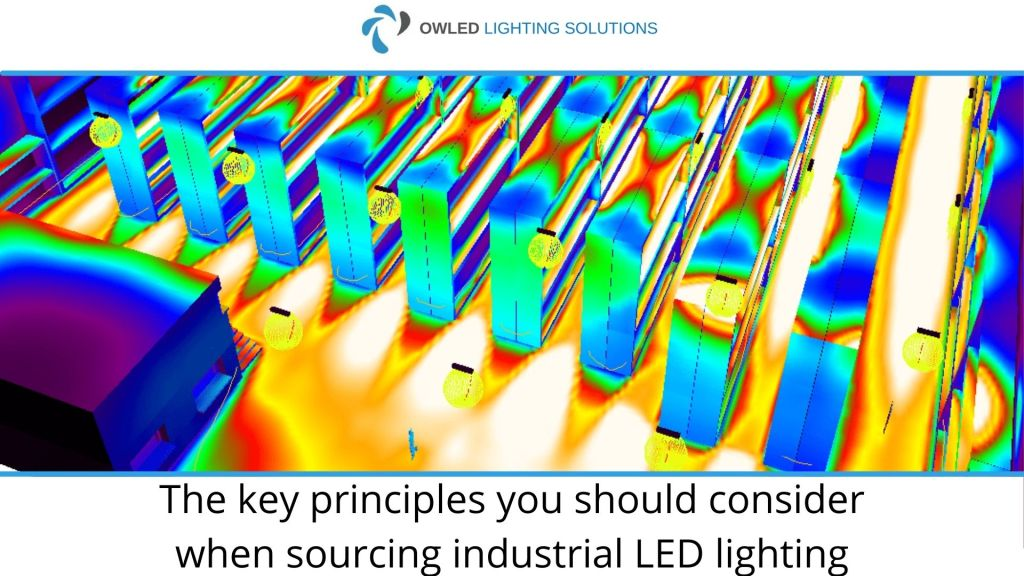 An image showing the best way to design LED industrial lighting designs