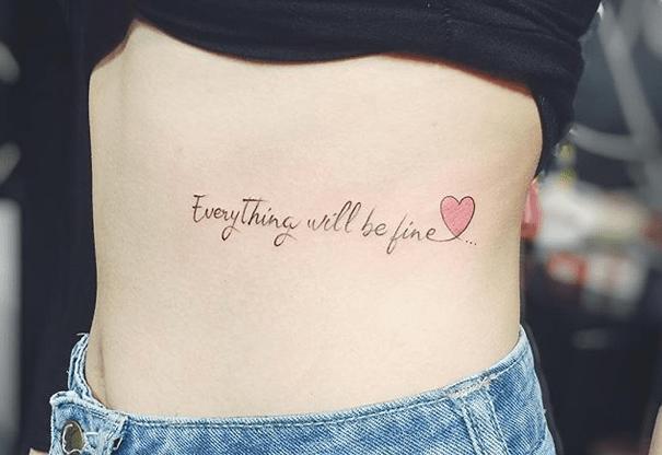 Hình xăm chữ everything will be fine