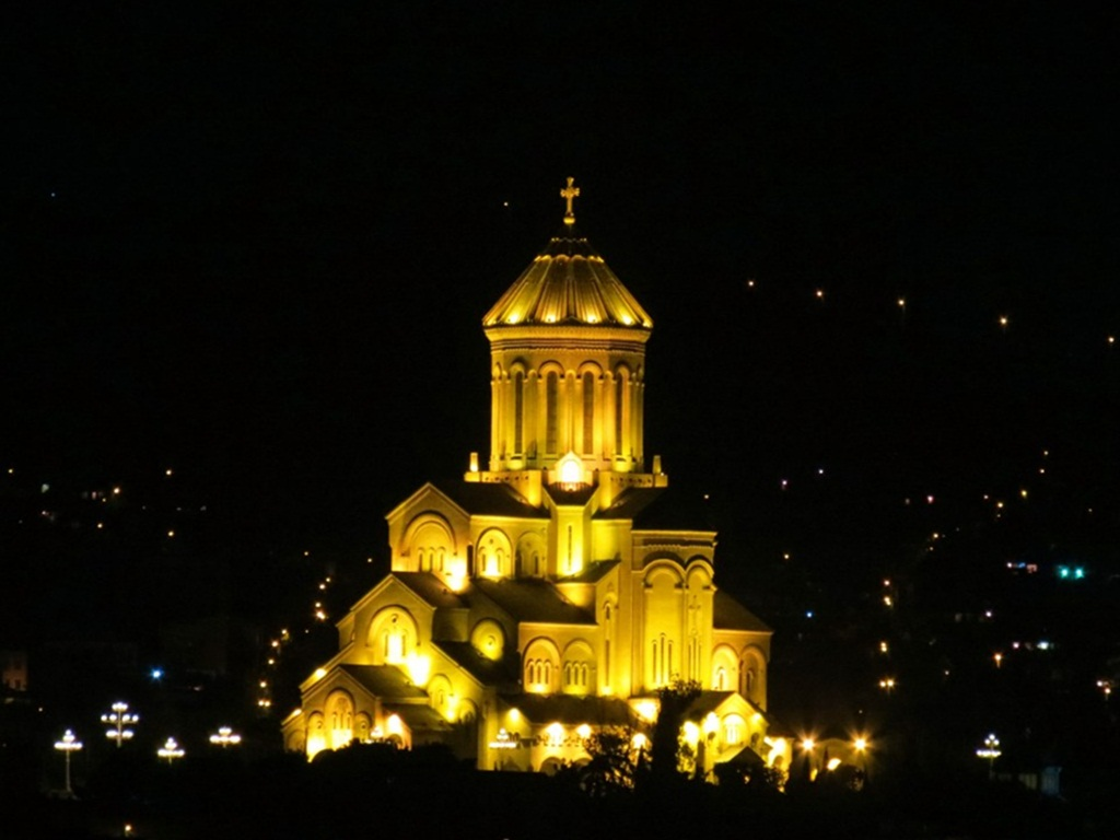 exploring tbilisi at night