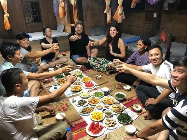 Ha Giang Tour homestay dinner